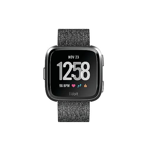 Fitbit Versa Montres Connectées Forme Sport et Bien être Plus de 4 Jours d autonomie Étanche Suivi Fréquence Cardiaque Graphite