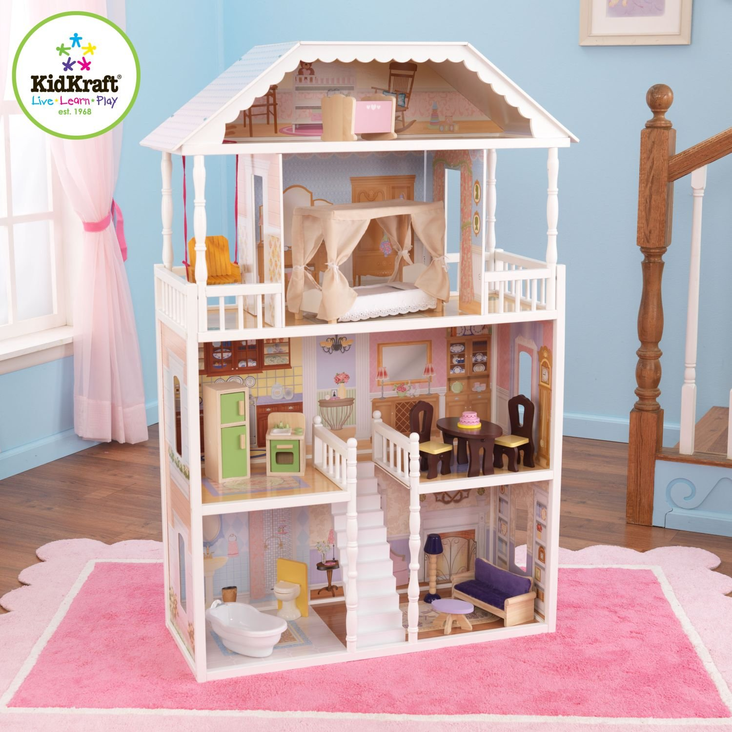 Kidkraft Savannah Dollhouse With 14 Piece Furniture