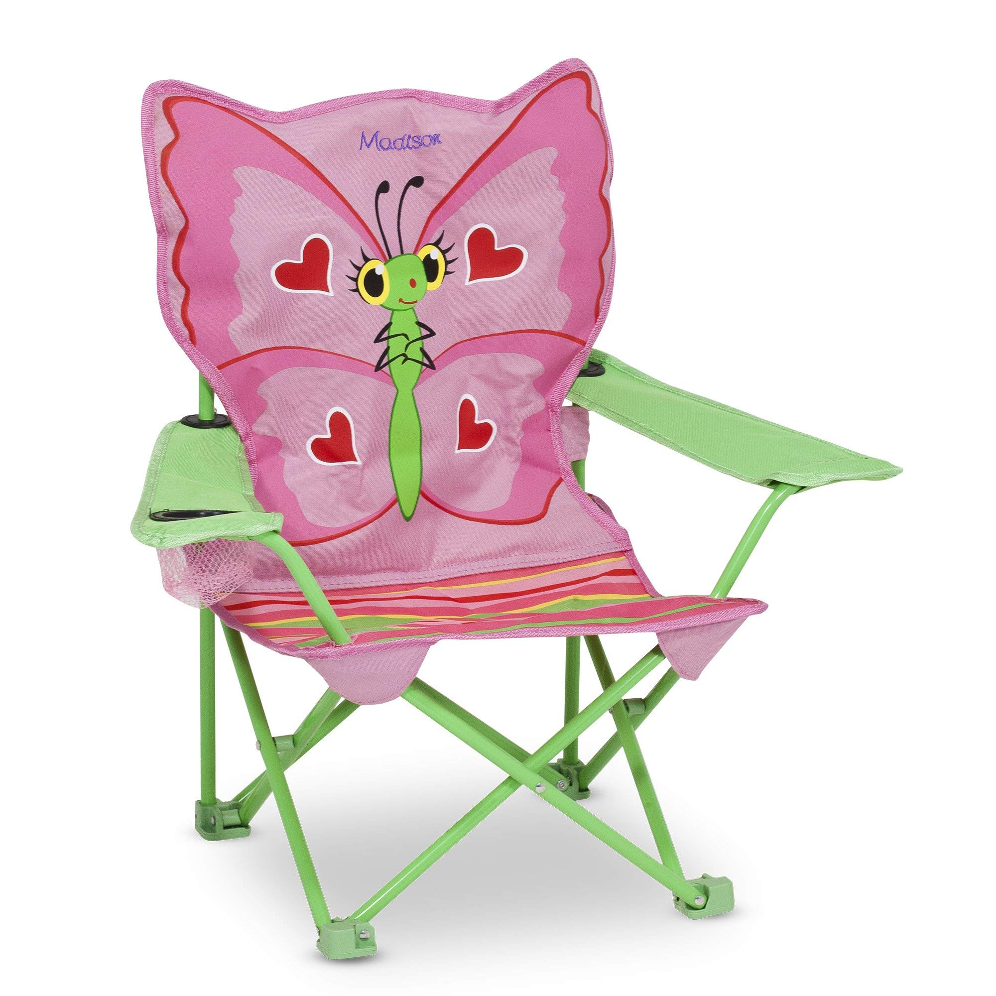 Melissa & Doug Personalized Sunny Patch Bella Butterfly Outdoor Folding Lawn & Camping Chair (Renewed) by Melissa & Doug (Image #1)