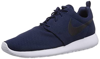 cheaper 64b3e d6e6c Nike Rosherun, Men s Running Shoes, - Blau (Midnight Navy Black White