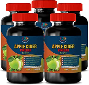 Weight Loss Supplements for Women - Apple Cider Vinegar Complex 750 MG - Lecithin Supplement - 5B (450 Capsules)