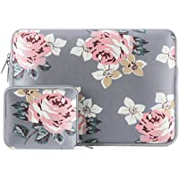 MOSISO Funda Protectora Compatible 13-13.3 Pulgadas MacBook Air/MacBook Pro/Pro Retina/Surface Laptop 2 2018 2017/Surface Book 2/1, Repelente de Agua Neopreno con Pequeño Caso, Rosa Gris