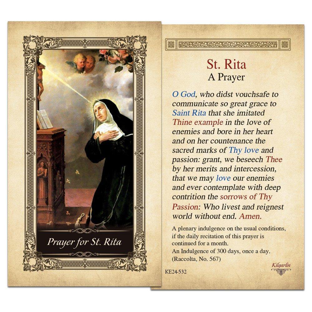 St. Rita Laminated Holy Card
