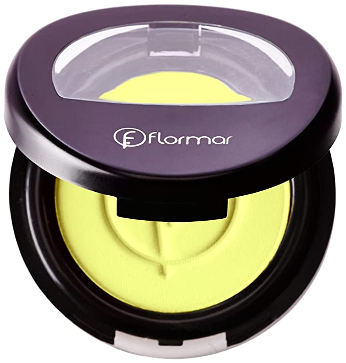 Sombra de ojos de color amarillo neón fosforito