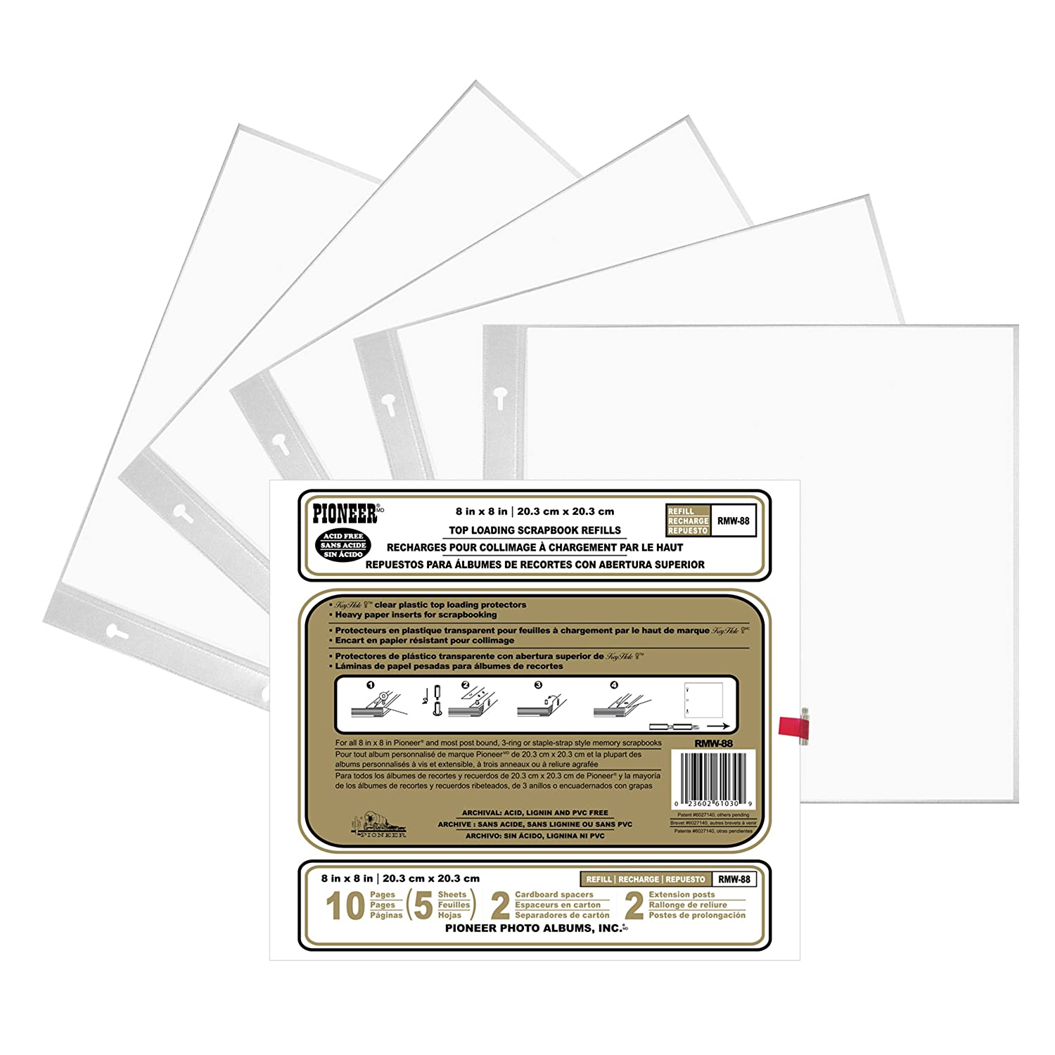 Pioneer Post Bound Top-Loading Page Protectors RMW-88
