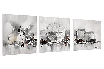 Moderne Kunst Bilder Schwarz Weiss ~ Kunstloft acryl gemälde heart of the city cm original