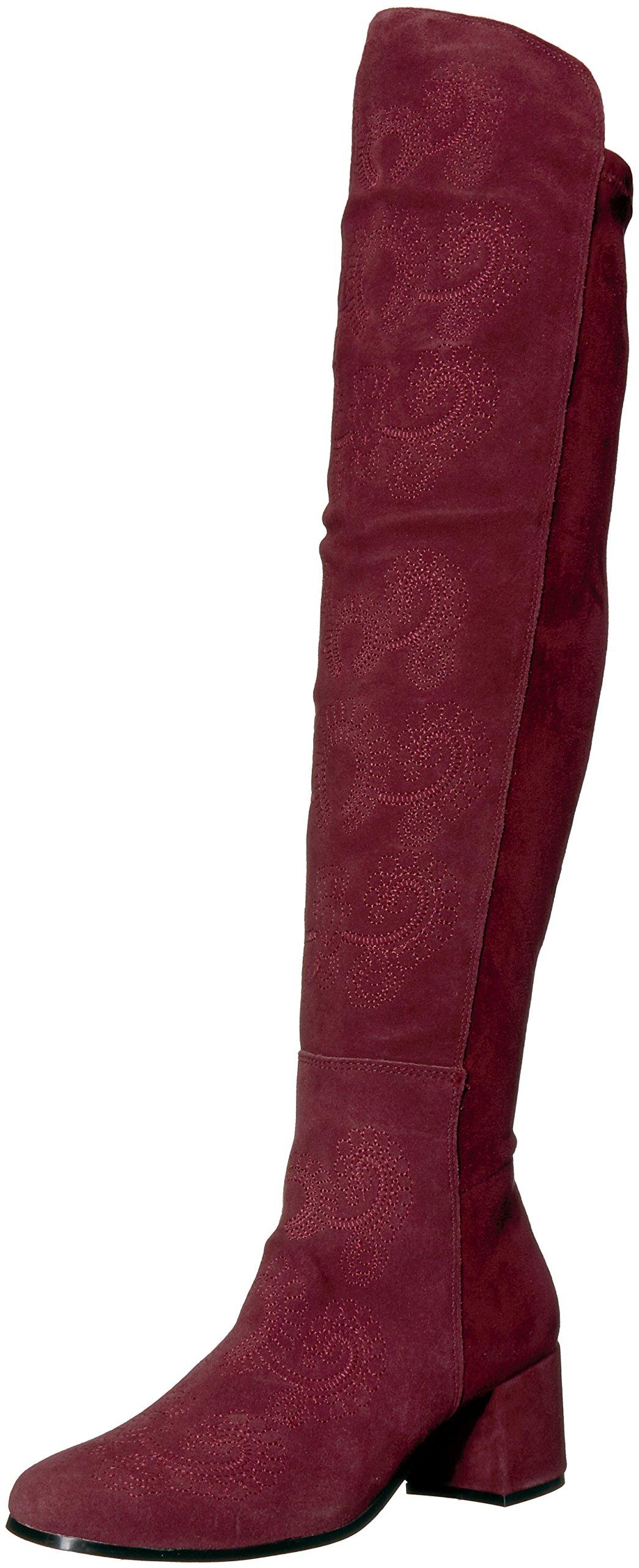 Sbicca Women's Chenoa Riding Boot, Wine, 7.5 B US