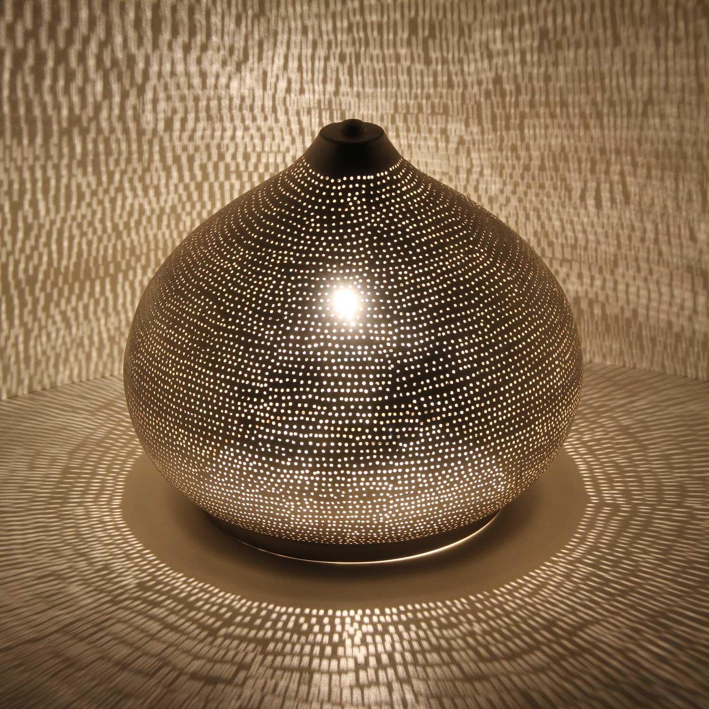 Orientalische ägyptische Leuchte Laterne 100% versilberte Handmade Silver Stehlampe Lampe für tolle Lichteffekte wie aus 1001 Nacht Sherin D22
