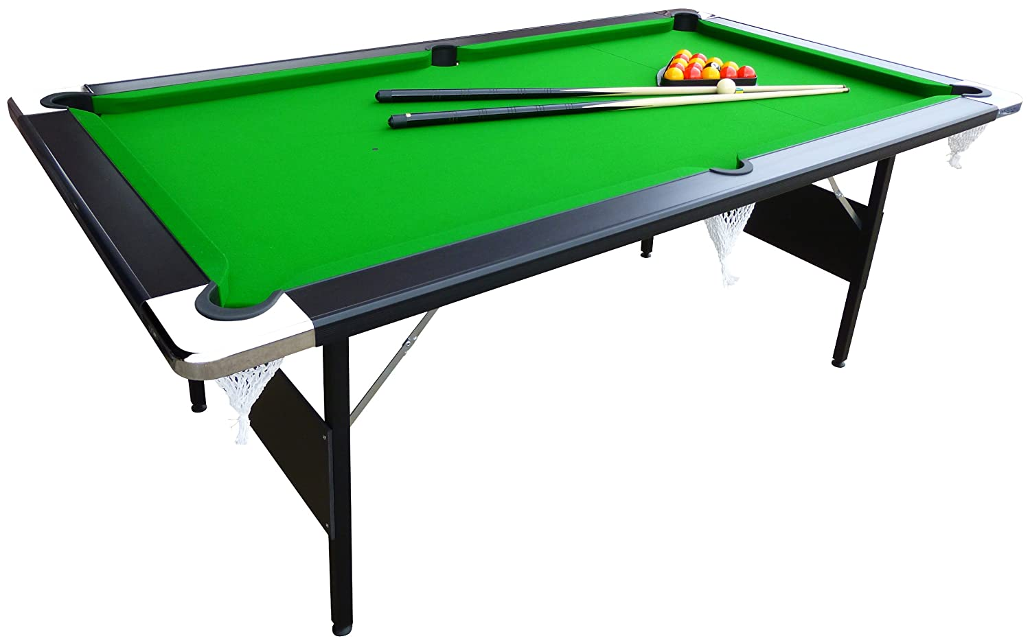 Awesome Mightymast Leisure Hustler Fold Up Pool Table   Green, 7 Ft: Amazon.co.uk:  Sports U0026 Outdoors