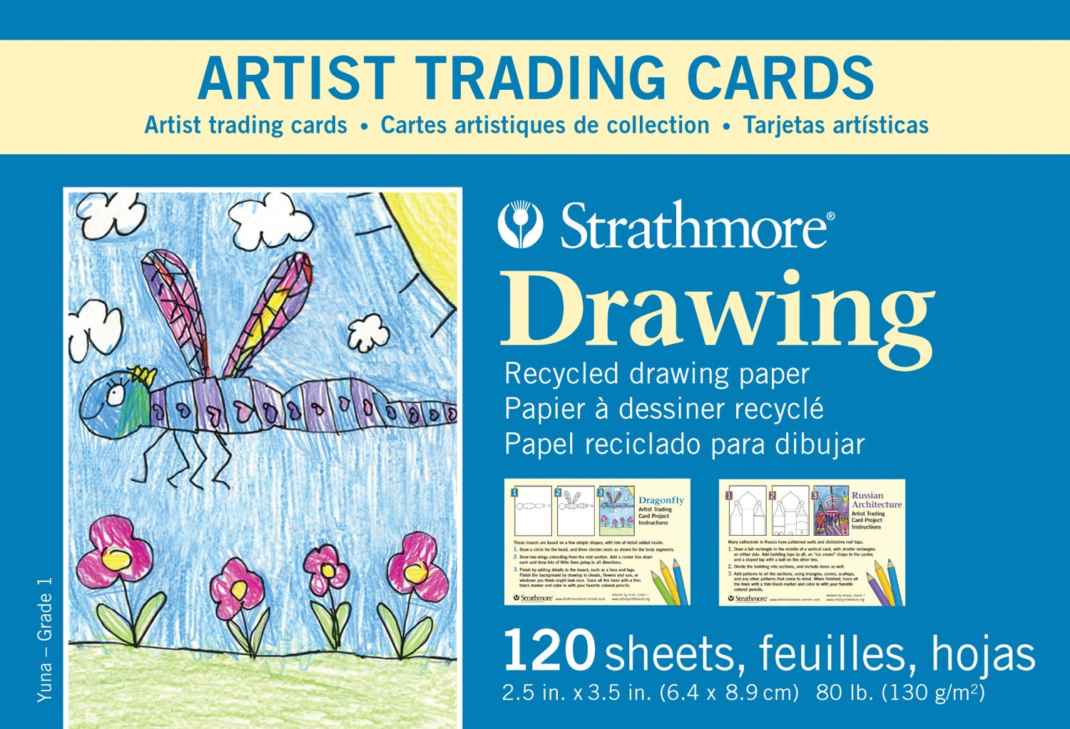 Recycled Drawing Artist Trading Cards for Kids (Set of 120) by Strathmore