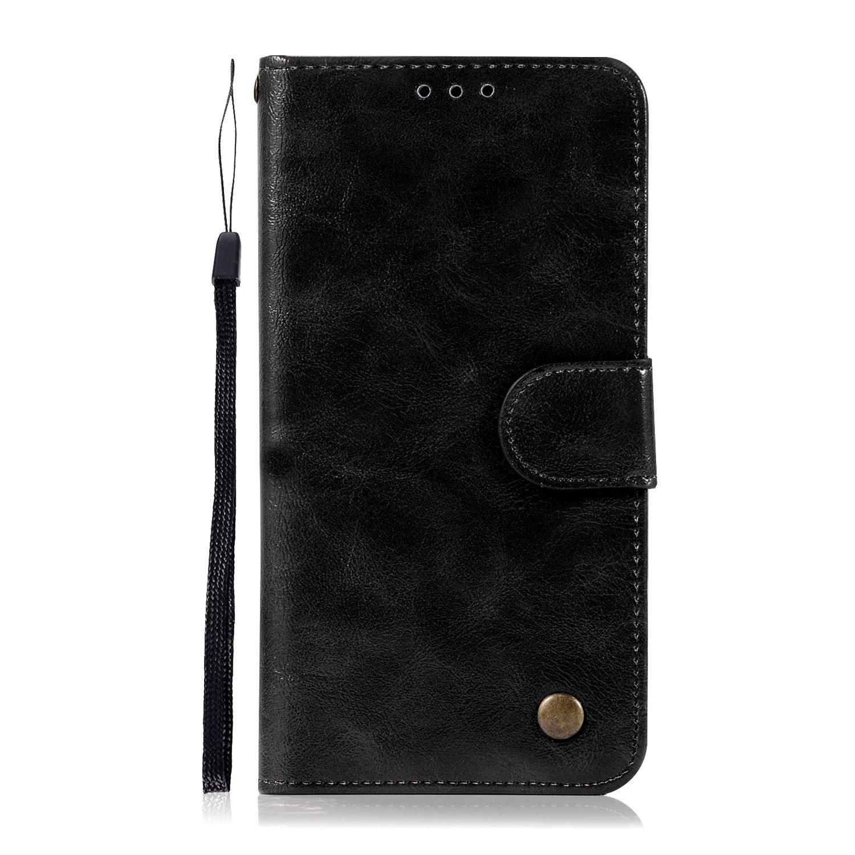 Ranuras para Tarjetas Negro Cierre Magnetico Funda PU Piel Genuino Carcasa en Folio + Acollador para Samsung Galaxy Xcover 4 G390F SsHhUu Funda Galaxy Xcover 4 5.0