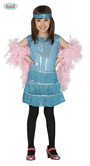 Guirca Rudy Traje de Charleston 5/6 años, Color Azul, 5 - 6, 81551 ...