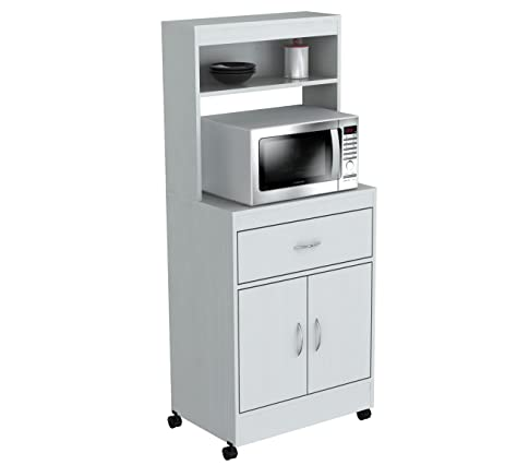Amazon.com: Inval America 2 Door Storage Cabinet with Microwave ...