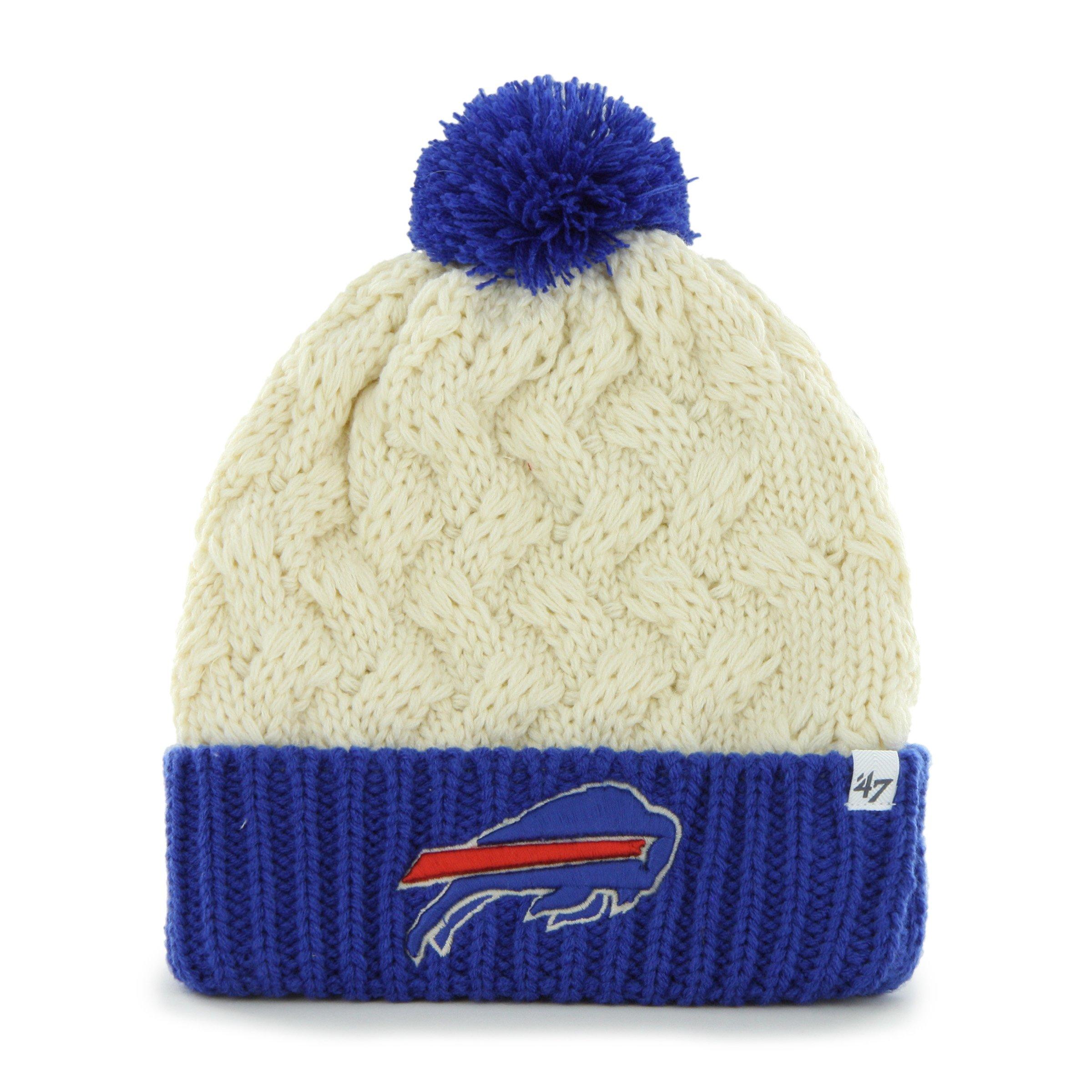 '47 NFL Buffalo Bills Women's Matterhorn Cuff Knit Hat, One Size, Natural