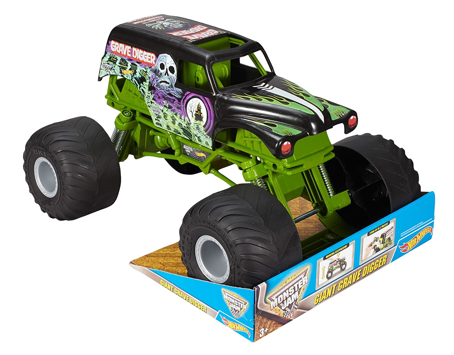 Amazon Com Hot Wheels Monster Jam Giant Grave Digger Truck Mattel
