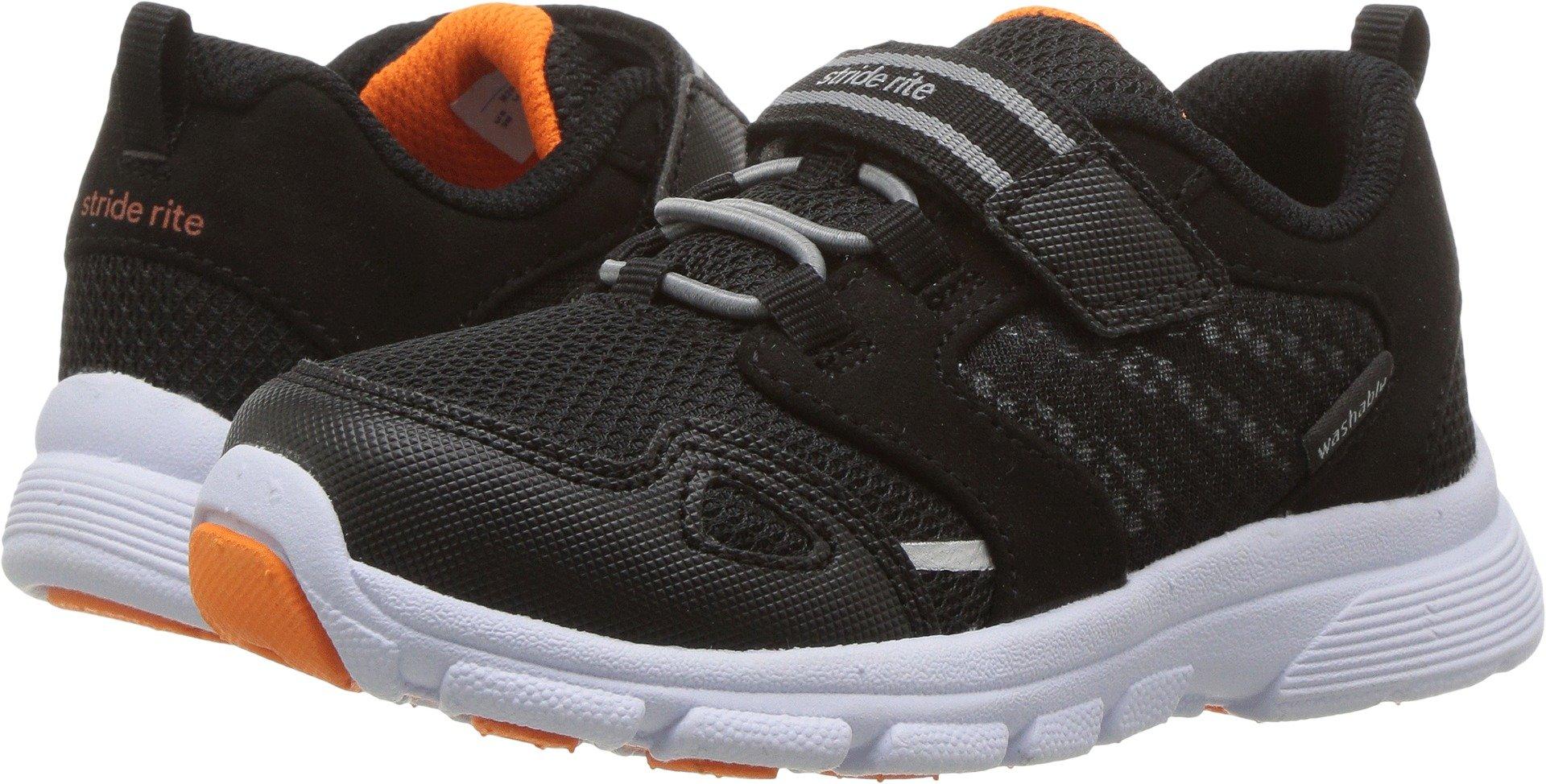 Stride Rite Boys' Made 2 Play Taylor Sneaker, Black/White 9 W US Toddler
