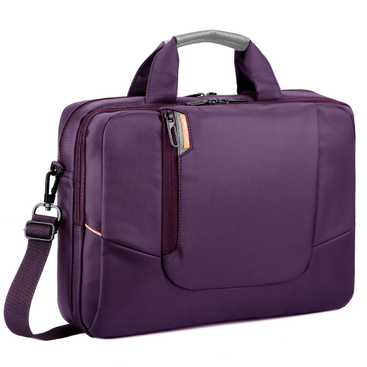 BRINCH(TM) 17.3 inch New Soft Nylon Waterproof Laptop Computer Case Cover Sleeve Shoulder Strap Bag with Side Pockets Handles and Detachable for Laptop/Notebook / Netbook/Chromebook,Colour Purple