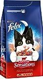 Felix Trocken Meaty Sensations mit Fleisch Katzenfutter von Purina, 6er Pack (6 x 2 kg)