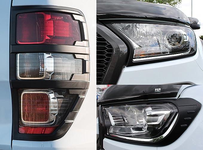 Schwarze Abdeckung Für Scheinwerfer Und Rücklicht Bei Ford Auto