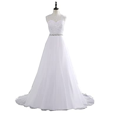 Cheap A-Line Lace Appliques Wedding Dress 2017 Vintage Plus Size Vestido de Novia with