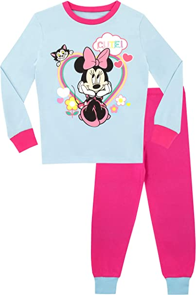 Disney Pijamas para niñas de Disney Minnie Mouse Ajuste Ceñido: Amazon.es: Ropa y accesorios