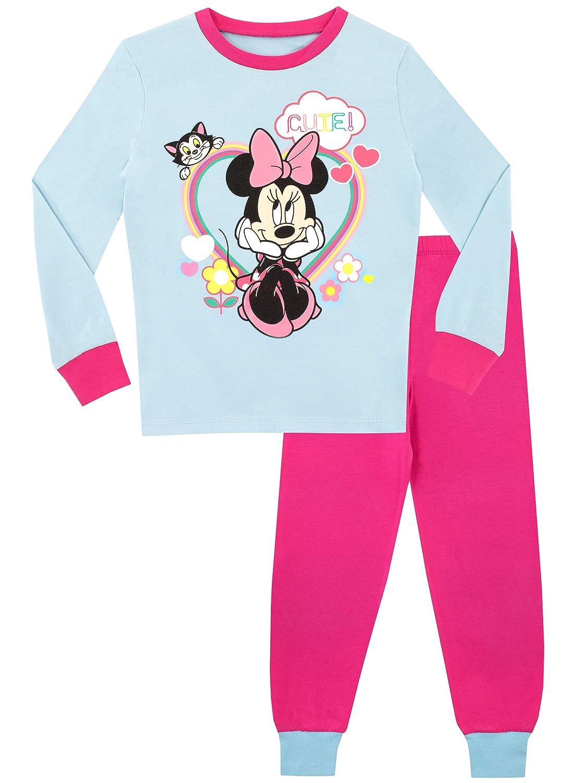 Disney Mädchen Minnie Mouse Schlafanzug Slim Fit
