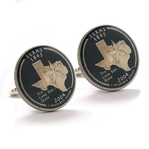 Amazon.com: Gemelos de Texas Suit Estado del pabellón Coin ...