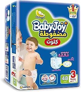 Baby Joy Diapers Culotte Unisex Medium Size 3-4 Month Diaper 44 Plus 4 Pieces