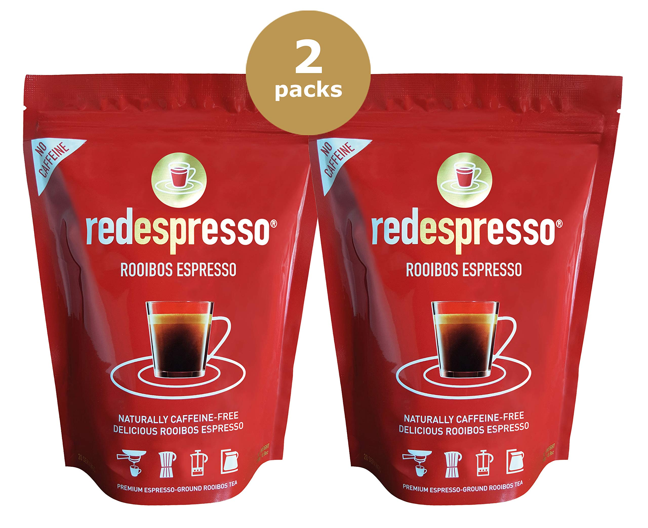 Red Espresso Ground Rooibos Tea, 8.8-Ounce Pouches (Pack of 2) by Red Espresso