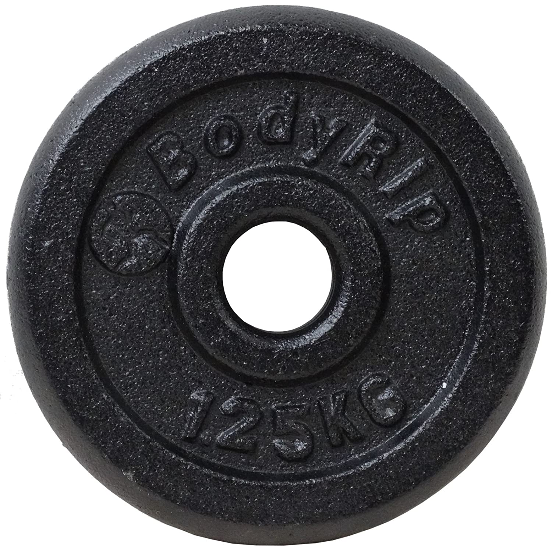 Bodyrip 47 kg peso de hierro fundido conjunto 152,4 cm 2,54 cm ...