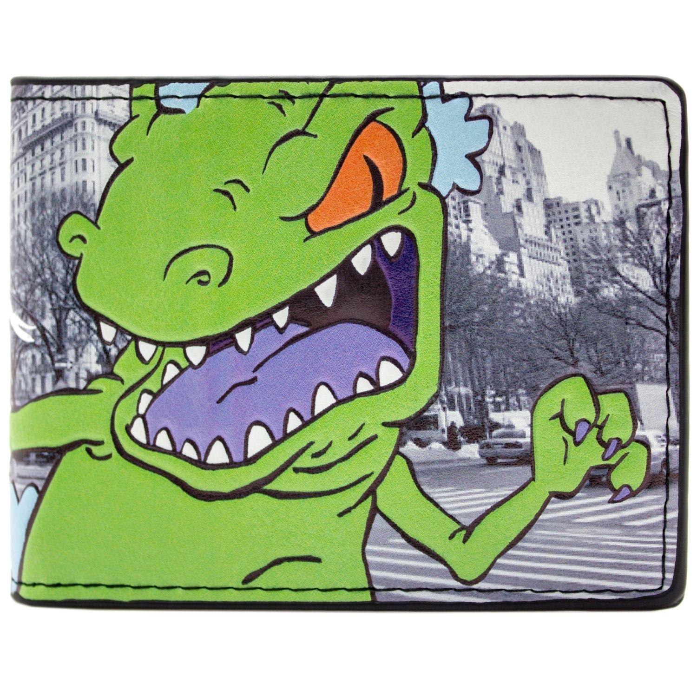 Rugrats Reptar verde T-Rex In New York Grigio Portafoglio 30309