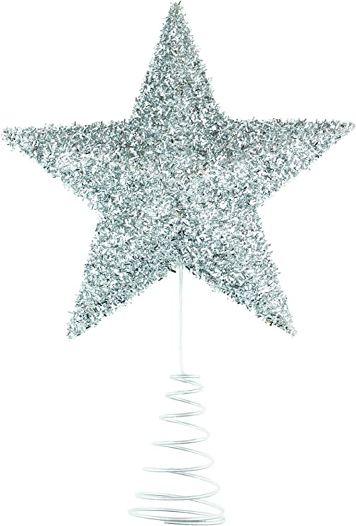 Sparkly and Bright Texture Perfect for Any Size Christmas Tree with stem Clever Creations Large Red Star Christmas Tree Topper 11 Tall Festive Christmas Decor Shatter Resistant Plastic
