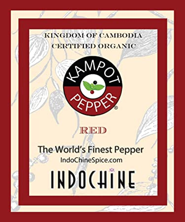 Organic Kampot Pepper - Rare Cambodian Peppercorns Red 8 Ounce