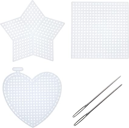 """33147 Darice Plastic Canvas Shapes 7 Count 3/"""" 10//Pkg-Hearts Clear"""