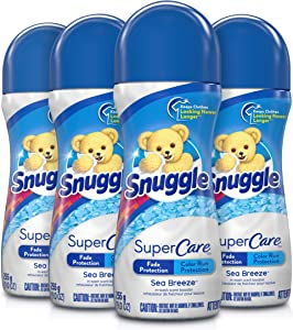 Snuggle SuperCare in-Wash Scent Booster, Sea Breeze, 9 Ounce, 4 Count