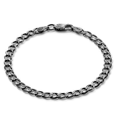 STERLL Herren Silberarmband Echt Silber 20cm Schwarz Oxidiert Schmuck-Beutel  Geschenkideen für Männer  Amazon.de  Schmuck 0aa98cb077