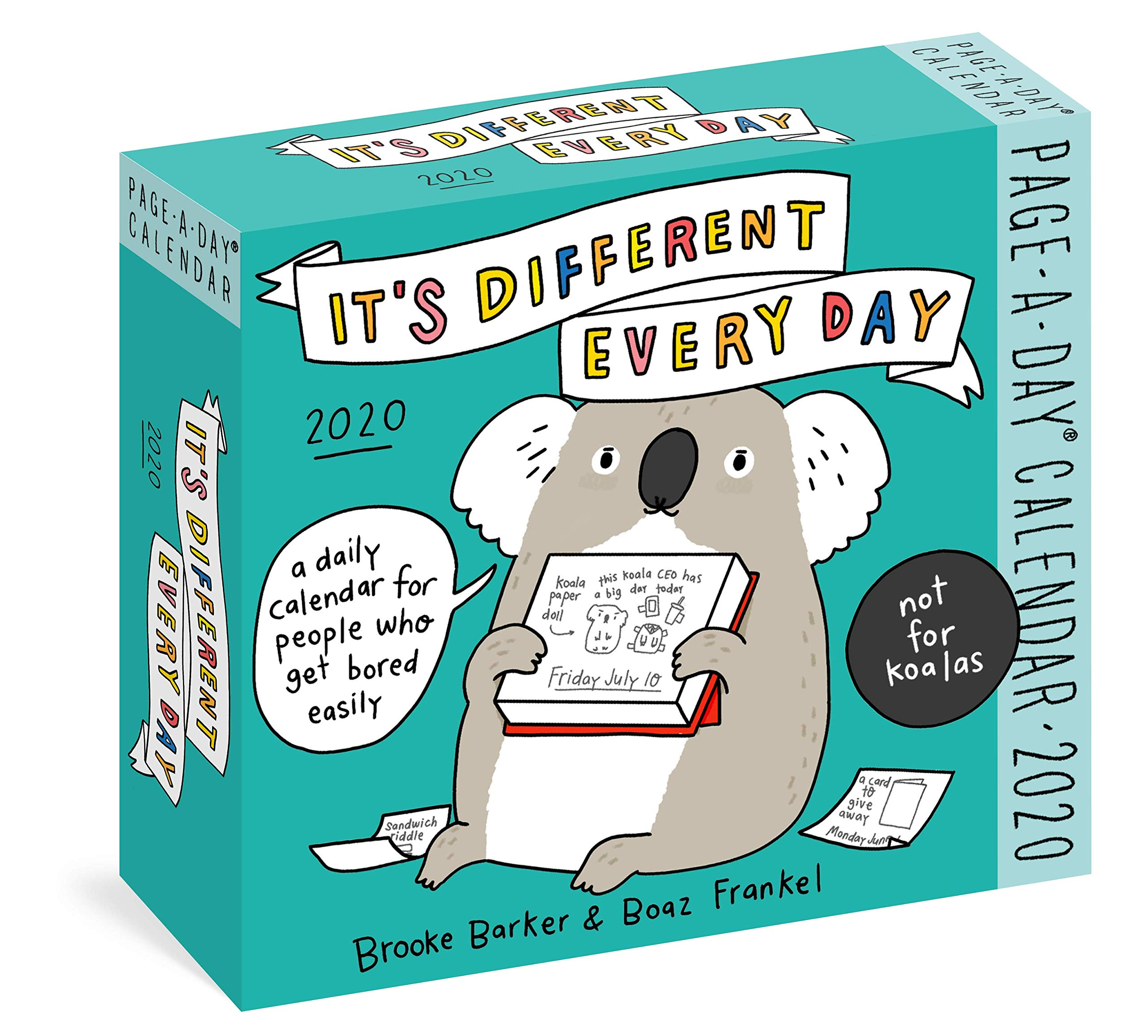 """Box for """"its different every day"""" daily calendar."""