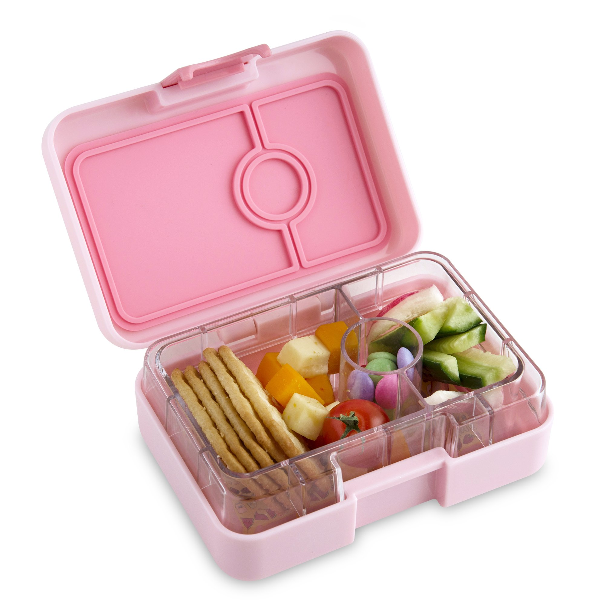 YUMBOX MiniSnack Leakproof Snack Box (Hollywood Coco Pink); Bento-style snack box offers Durable, Leak-proof, On-the-go Meal and Snack Packing