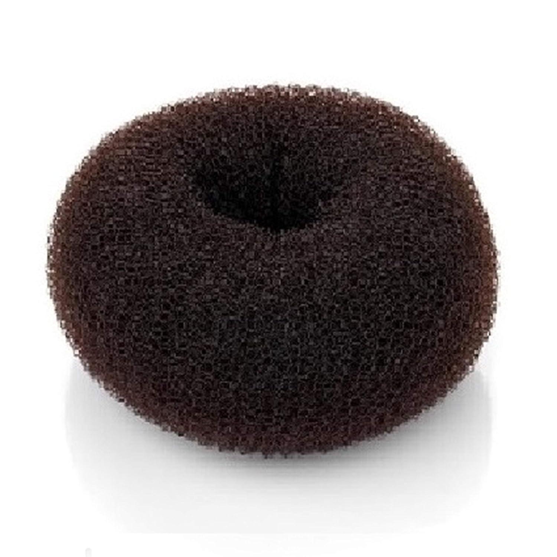 Beaute Galleria Hair Donut Bun Maker Ring Style Mesh Chignon Ballet Sock Bun (X-Large, Brown): Beauty