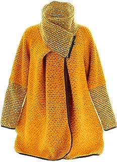 Charleselie94® - Manteau Cape Laine Bouillie Hiver Grande Taille Jaune  Moutarde Violetta Jaune 54b4b4881d1d