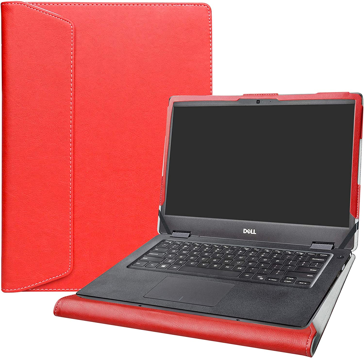 """Alapmk Protective Case for 14"""" Dell Latitude 3400/Vostro 14 3401 3405/Inspiron 14 5493 5494 & Acer Spin 3 14 SP314-53N Laptop[Not fit Latitude 3410 3490 3480/Spin 3 SP314-51 SP314-52],Red"""