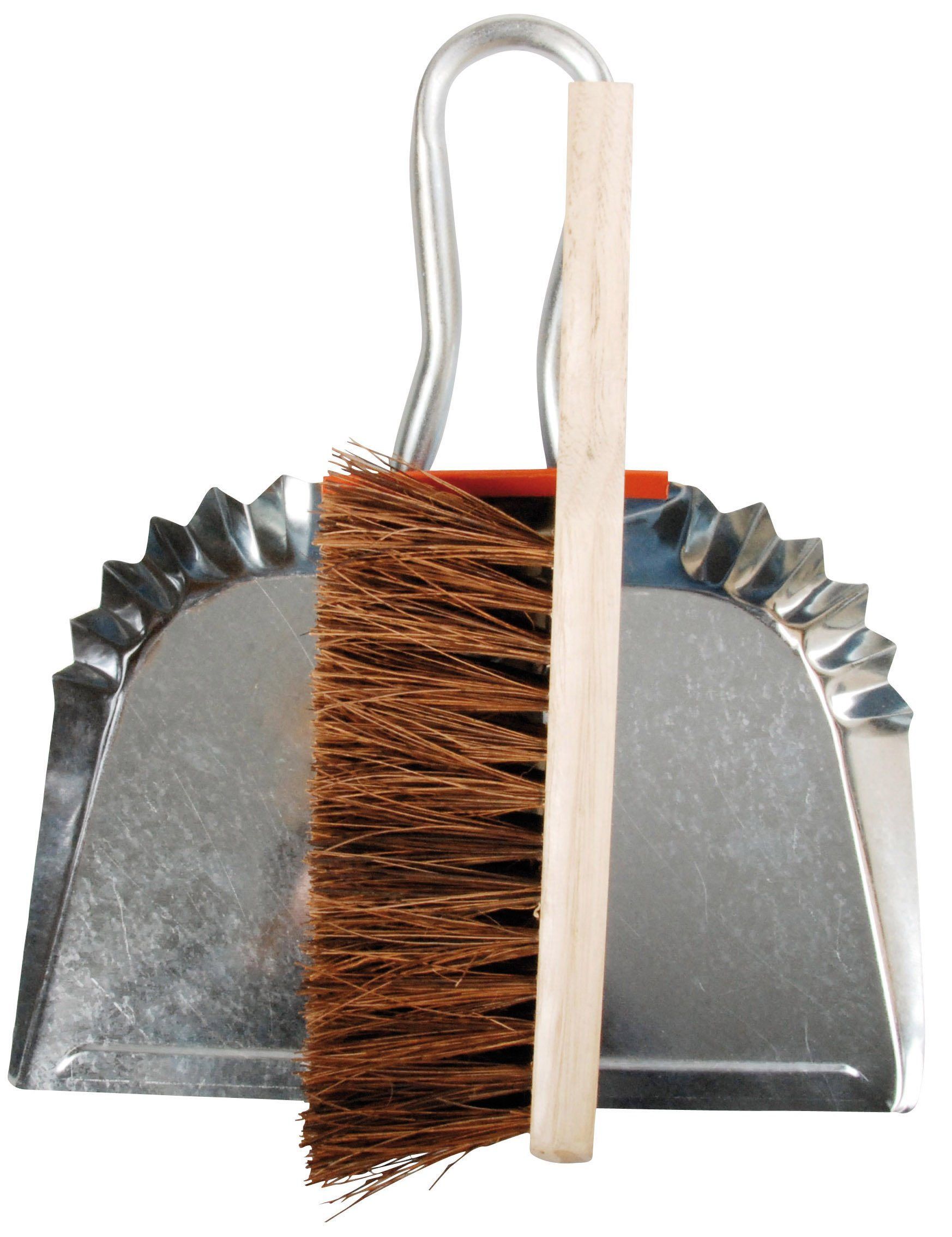 Esschert Design Metal Dustpan with Wood Handle Broom