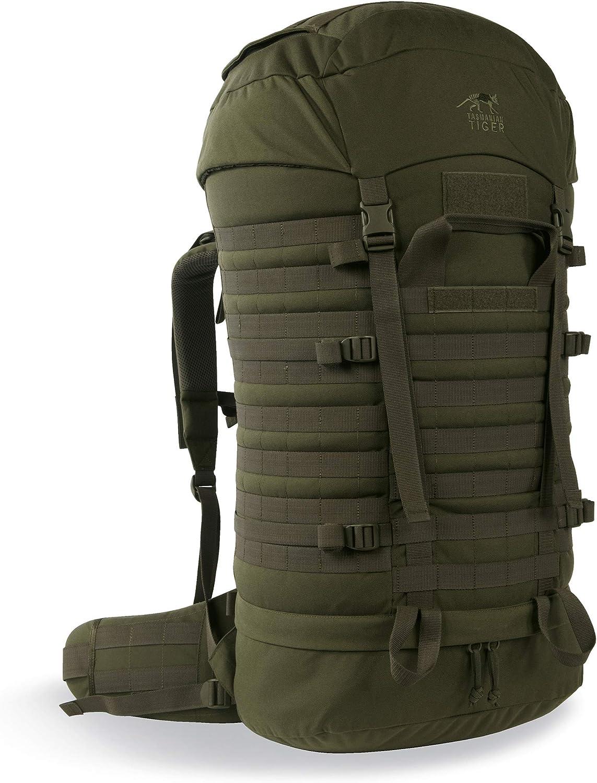Tasmanian Tiger TT Field Pack MK II - Mochila de trekking con sistema de hidratación, 75 litros, compatible con Molle, Mujer, Marrón: Amazon.es: Deportes y aire libre