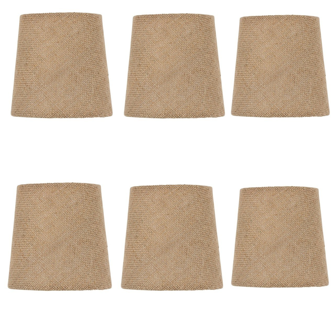 Upgradelights set of 6 rolled edge burlap drum chandelier shades 5 upgradelights set of 6 rolled edge burlap drum chandelier shades 5 inch dia amazon mozeypictures Image collections