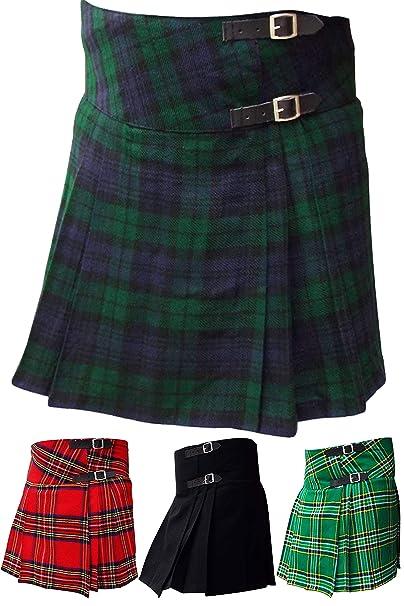 Aar Womens Kilts Ladies Billie Kilt Skirt 16 Length Black Watch Royal Stewart Irish Heritage Tartans
