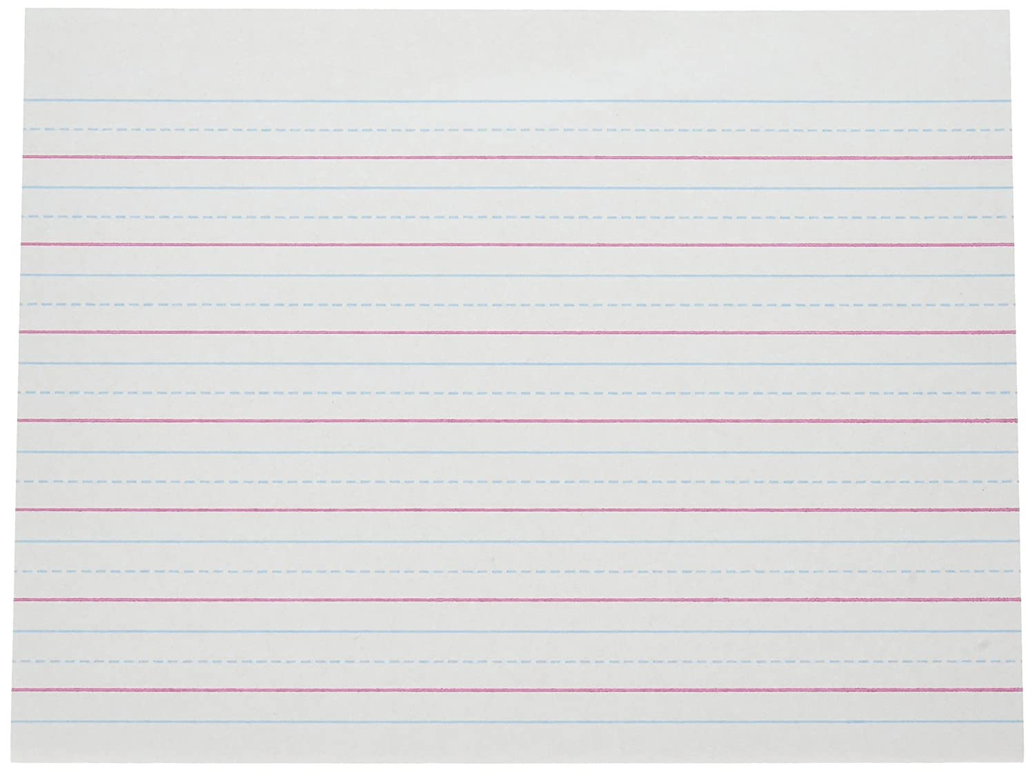 Pacon Multi-Program Handwriting Paper, 5/8 inch Long Rule, 10-1/2 x 8, White, 500 Shts/Pk FBA_2420