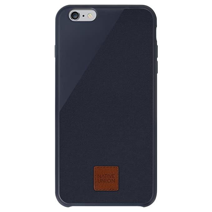 more photos ea158 e9497 Native Union CLIC 360 Case for iPhone 6 Plus, iPhone 6s Plus - Military  Grade Drop-Proof Protective Cover Made with British Waxed Canvas - Midnight  ...