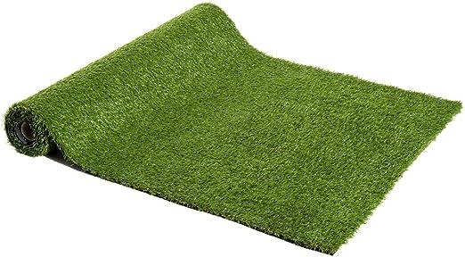 Outsunny Césped Artificial Tipo Alfombra o Estera de Hierba Sintética de Exterior Interior 3x1m 25mm para Jardín y Terraza 1 Pieza: Amazon.es: Jardín