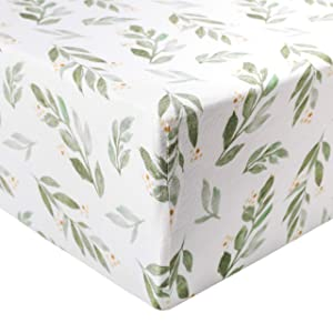 """Premium Fitted Knit Crib Sheet/Toddler Sheet""""Fern"""" by Copper Pearl"""