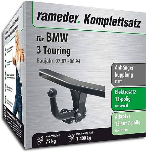 rameder Juego completo, remolque fijo + 13POL Elektrik para BMW 3 Touring (123937 –